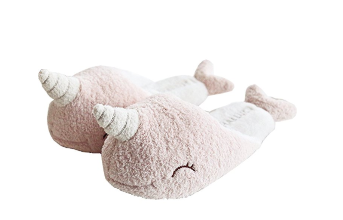 Adorable Narwhal Slippers